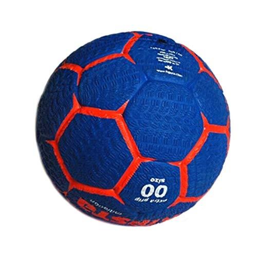 FKYNB Handball für Jugendtraining, Größe 00/1, hohe Elastizität, Hartleder, Kinderhandball, Rot/Grün, Size 00