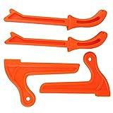 4 bâtons de poussée,bâton de poussée pour le travail du bois de sécurité, pour les travailleurs du bois et utilisation sur les scies à table, les tables de toupie(Orange)