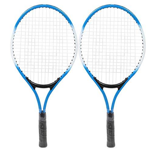 Yeelur Raqueta de Tenis, Ligera, ergonómica, Resistente al Desgaste, para niños, Raqueta de Tenis, Entrenamiento para Almacenamiento, Entrenamiento, Transporte(Blue)
