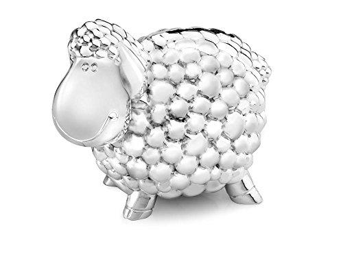 Spardose Schaf versilbert anlaufgeschützt 11,5x7x8,5cm