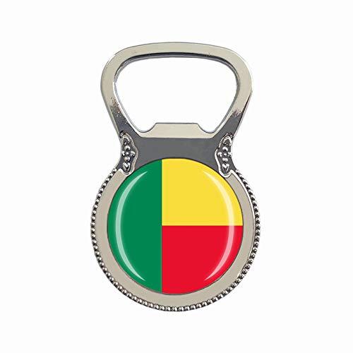 Benin Flagge Bierflaschenöffner Kühlschrank Magnet Metall Glas Kristall Reise Souvenir Geschenk Heimdekoration