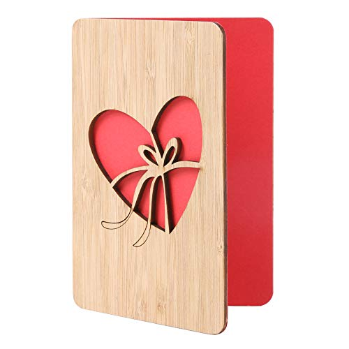 Mothers Day Cards for Mom,Heart Shaped Wooden Greeting Cards, Thank You Cards for Best Mom Ever,Mothers Day Gifts, Birthday Card for Mom