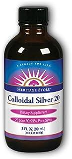 Heritage Store Colloidal Silver, 3 Fluid Ounce