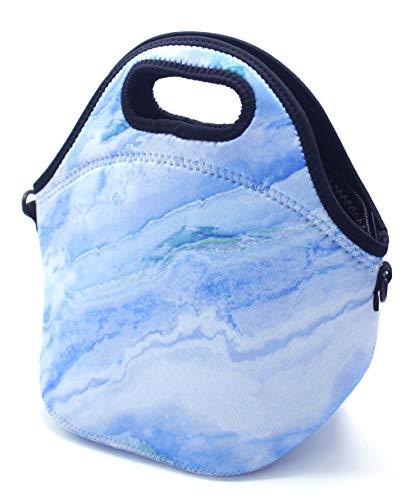 ALLENLIFE neoprene lunch bag Insulated handbags Lunch Box Cooler Bag for school children teen girls women (BLUE)