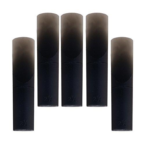 Mxfans 5PIECES leggero per sassofono contralto in mi bemolle in resina nera