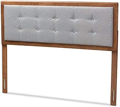 BOWERY HILL Mid-Century Wood Tufted Headboard in Gray Bombing free shipping Ranking TOP10 Light King