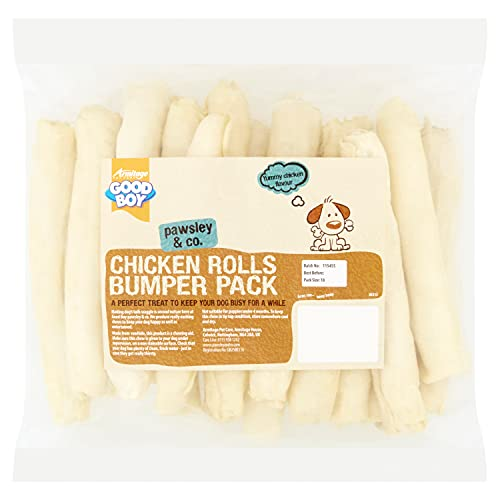 Good Boy - Rawhide Chicken Rolls Bumper Pack - Dog Chews - Delicious Chicken Flavour - Pack of 18 - Long Lasting Dog Treats