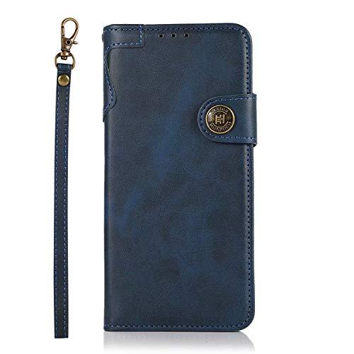 FullProtecter Handykette kompatibel mit Nokia 5.3 Handyhülle,Lederhülle Klappbar, stoßfest Flipcase,Brieftasche für Nokia 5.3,Blau