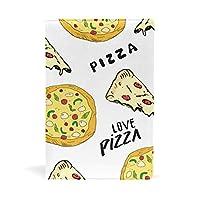 SoreSore(ソレソレ) ブックカバー a5 ピザ 白 ホワイト おもしろ 食べ物 かわいい 皮革 レザー 文庫本 ノートカバー メモ 手帳カバー 革 A5 かわいい おしゃれ