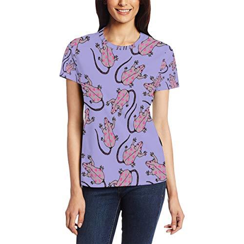 Hartjes Op Ratten Muis Lichaam Vrouwen Casual T-Shirt Korte Mouw Tuniek Tops Ronde hals Blouse Comfy