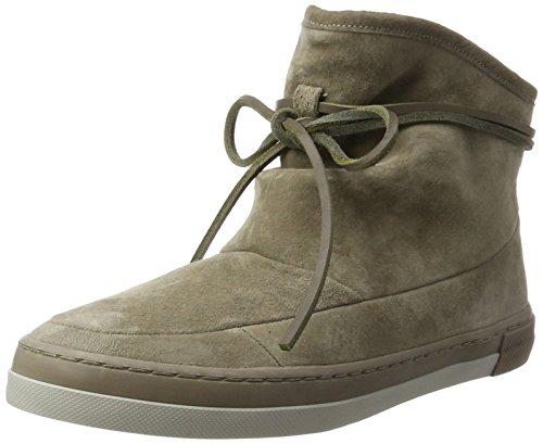 HUB Hub Damen Queen Boot N30 Hohe Sneaker, Beige (Dark Taupe/Dark Taupe-Cool Taupe), 39 EU