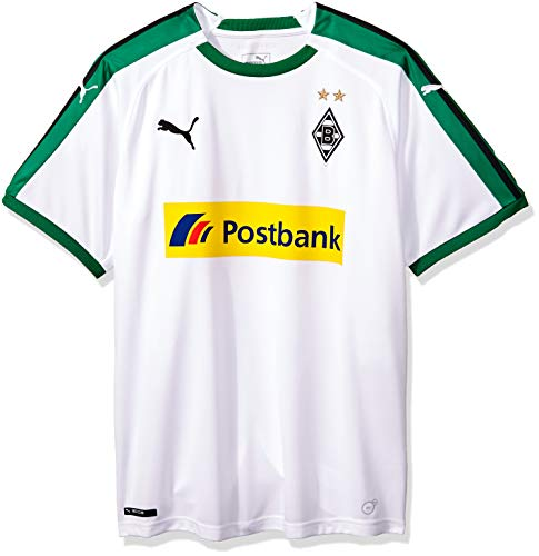 PUMA Herren BMG Home Replica with Sponsor Logo Trikot, White, 3XL