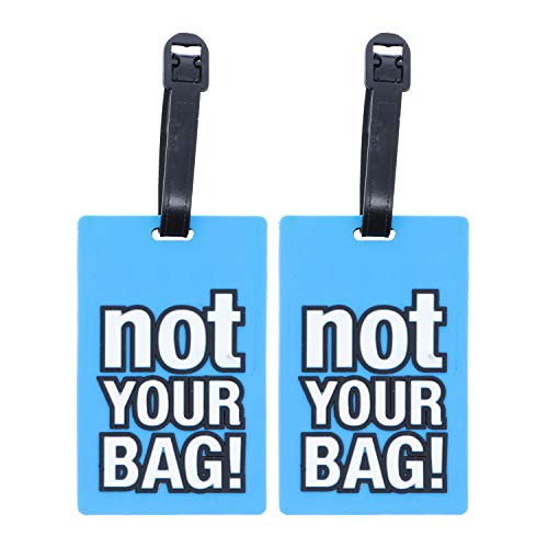 Blue Not Your Bag Humor ID Holder for Suitcases - 2 Pack