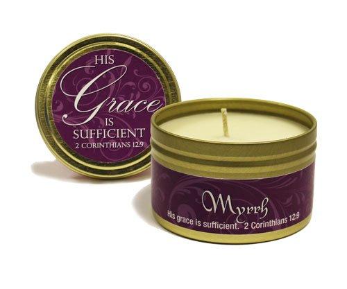 Candle Myrrh Scripture Tin 6oz