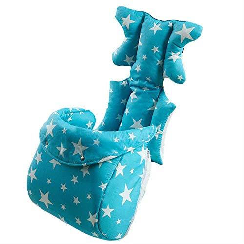 Cojín de silla para niños, alfombra de asiento de cochecito de bebé, almohada de colchones de algodón para automóvil, carro de transporte para bebés, almohadilla de asiento engrosada 37cmx80cm azul2