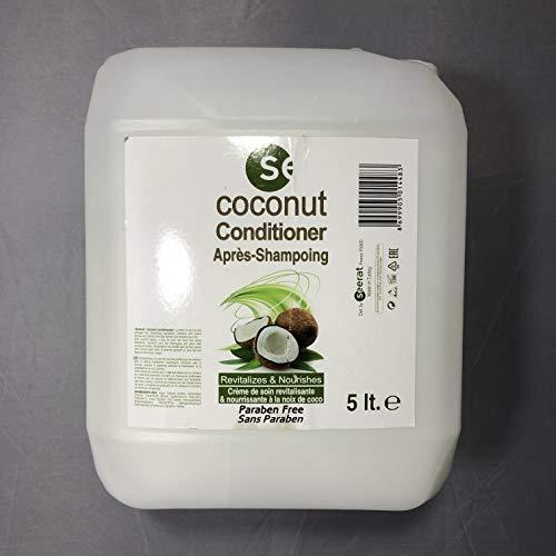 Après-shampoing conditionner crème de soin revitalisante et nourrissante à la noix de coco sans paraben 5 litres