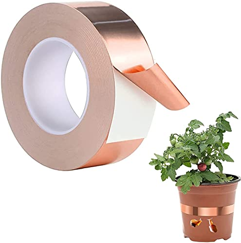 Kupferband Kupferfolienband, Mitening Gegen Schnecken 30m x 50mm Copper Foil Tape Abschirmband Schneckenband Kupfer Schneckenschutz Schneckenzaun