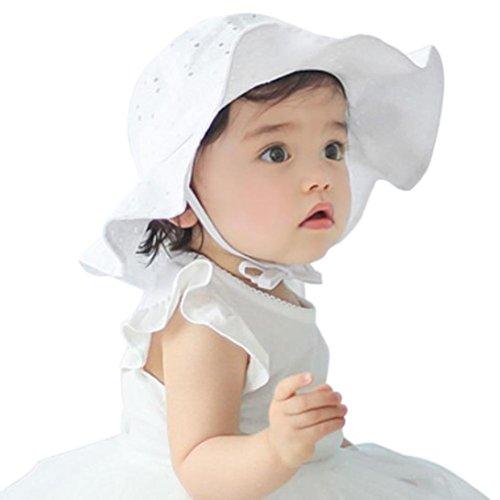 Peuters kind schert zonnehoed Vovotrade zomer-in openenbaby-meisjes-jongens Sun-strand-katoenen hoed voor 1-4 jaar oude kinderen roze wit