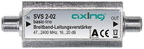 Axing SVS 2-02 Satelliten-Leitungsverstärker Inline Breitband (20 dB, 47 - 2400 MHz)