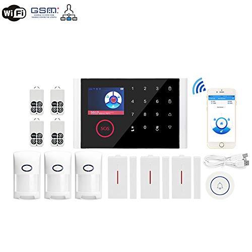 YCGYJH Alarma gsm Remoto Inalámbrico Sistema De Control De Seguridad De Alarma, Control De App, Sistema De Seguridad Casero, Fácil De Instalar Alarma De Seguridad