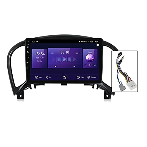 9'' Android 10.0 Radio Coche Bluetooth Carplay Incorporado Para Nissan Juke YF15 2010-2014,Autoradio Coche Soporte 5Ghz Wifi GPS Mandos De Volante Cámara Trasera 1280 * 720P Enlace Espejo,A,4G+64G