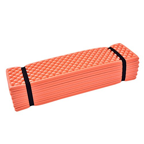 Alomejor Schaumstoffmatte Gymnastikmatten Fold-Fit-Folding Equipment Mat Strand Zelt Isomatte(Orange)