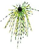 FISHN® Dirty Hairy Jig - Silikonfransen, fängige Fransen – Weedguard, Rubber Jigs, Tungsten, Gummiköder - scharfer Haken, Gewicht: 2,5g/5g – Hecht, Barsch und Zander (Green 2,5g)