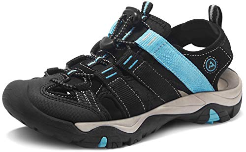 ATIKA Women Athletic Outdoor Sandal, Closed Toe Lightweight Walking Water Shoes, Summer Sport Hiking Sandals, Athena(w109) - Wine, 6