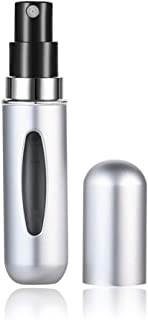 5ml Portable Mini Refillable Perfume Bottle with Spray Scent Pump Empty Cosmetic Containers Spray Atomizer Bottle (Color : Silver)