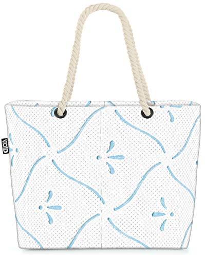 VOID XXL Strandtasche Toilettenpapier Design Shopper Tasche 58x38x16cm 23L Beach Bag Klopapier Toilette