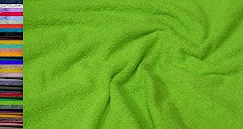StoffBook WALKFROTTEE Stoff Doubleface SCHWER FROTTE Stoff Stoffe METERWARE, B765 (Kiwi)