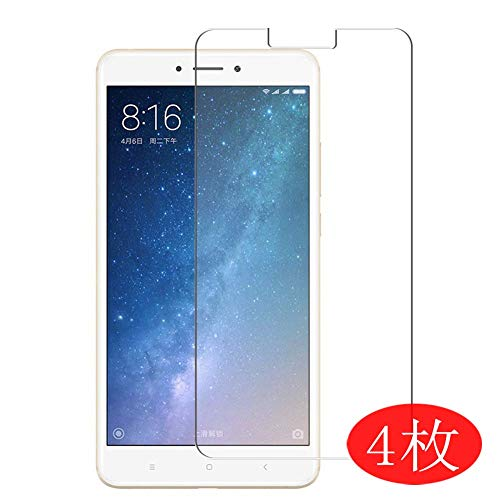 【4 Pack】 Synvy Screen Protector for XIAOMI MI Max 2 max2 0.14mm TPU Flexible HD Clear Case-Friendly Film Protective Protectors [Not Tempered Glass]