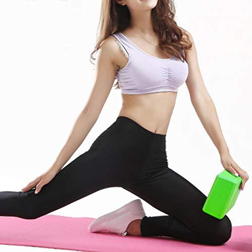 DAUERHAFT Material de EVA del Bloque de la Yoga del Entrenamiento físico del cojín de la Yoga 9.1 * 5.9 * 3in resbalón-resistan no tóxico(Grass Green)