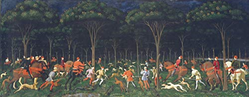 Berkin Arts Paolo Uccello Giclee Print On Paper-Famous Paintings Fine Art Poster-Reproduction Wall Decor(Hunt in The Forest) #XZZ