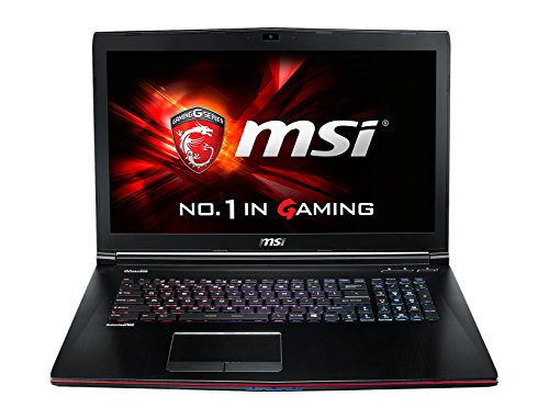 MSI GE72-2QFi7W8H11 43,9 cm (17,3 Zoll) Laptop (Intel Core i7-5700HQ, 2,7GHz, 8GB RAM, 1TB HDD, NVIDIA GF GTX 970M, Windows 10 Home) schwarz/grau