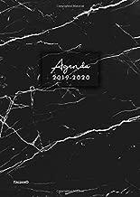 Agenda 2019-2020 italiano: Agenda settimanale 2019 2020 18 mesi, Agenda giormaliera metà anno, luglio 2019 - dicembre 2020, modello di marmo nero (Italian Edition)