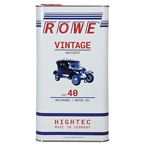 ROWE Hightec Vintage SAE 40 unlegiert - 5 Liter Oldtimer, Youngtimer Motoröl, mineralisch | Made in Germany