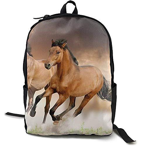 Rugzak, Reizen Rugzak Grote Luiertas - Animal Running Wild Horse Designs Rugzak School Rugzak voor Vrouwen & Mannen