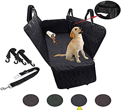 RBSC Home Car Back Seat Cover Protector 60 Inch Black Waterproof Hammock, Heavy Duty and Nonslip Car Seat Cover for Cars, Trucks, Jeeps and SUVs