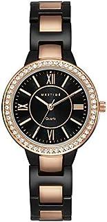 MESTIGE Womens Quartz Watch, Analog Display and Brass Strap MSWA3149