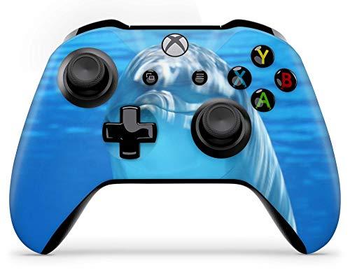 Skins4u Aufkleber Design Schutzfolie Vinyl Skin kompatibel mit Xbox One Controller Dolphin