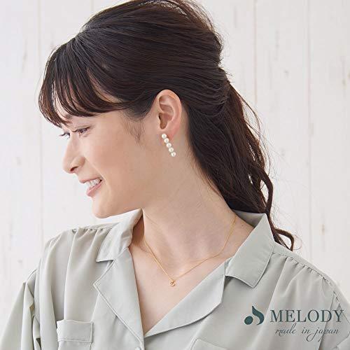 [MelodyAccessory]日本製イヤリング樹脂ノンホールピアスバーピアスパールPI-N50(3cm-樹脂ノンホール)