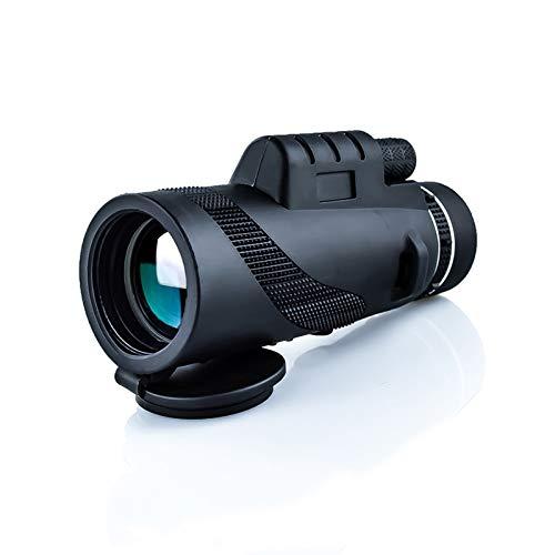 LJJLJJ Telescopio monocular-40x60 Alto Alcance monocular de Alta Potencia para observación de Aves Concierto de Viaje Juego de Deportes con Adaptador de teléfono trípode