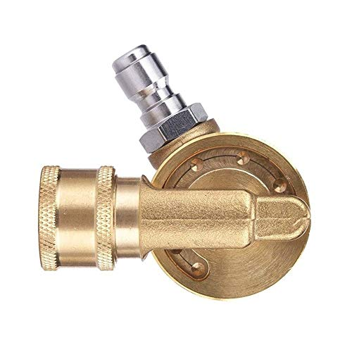 Engfgh Pivot Connector, 4500 Psi Brass Cleaner Accessory, Union Connector for Pressure Washer Nozzle
