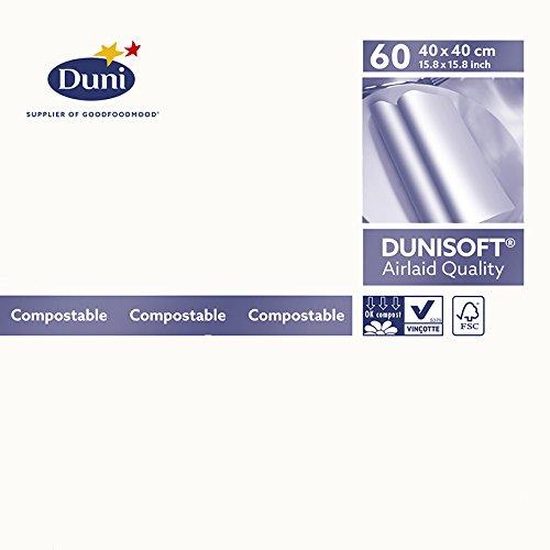 Duni Servietten Dunisoft, weiß, 40x 40cm, 60Stück