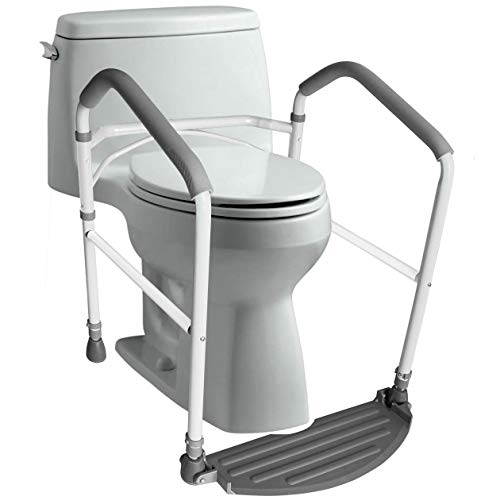 RMS Toilet Safety Frame & Rail - Folding & Portable Bathroom Toilet Safety Rails - Handrail Toilet...