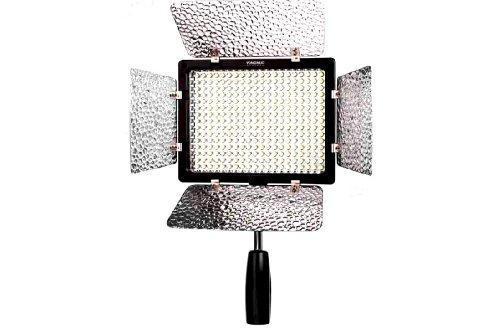 Yongnuo OS03221 YN-300 II Profi Videolicht/Kameralicht mit 300-LED (2280 Lumen) für Videokamera/Camcorder