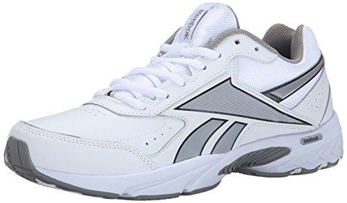 Reebok Men's Daily Cushion 3.0 RS Walking Shoe, Black/Gravel/Flat Grey, 7 M US