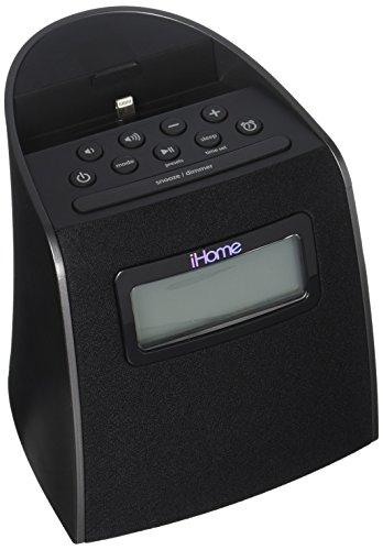 iHOME IPL22G iPhone/iPod Clock Radio with Lightning Connector (Black)