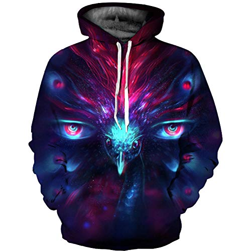 JUZSZB 3D Print Sweatshirts With Pockets 3D Printed Hoodie Fashion Plus Size Pullover Unisex Sweatshirt Loose With Pockets Sweater-007_2Xl